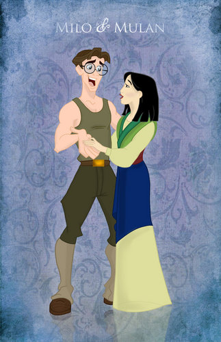 disney crossover achtergrond probably containing anime called mulan and milo