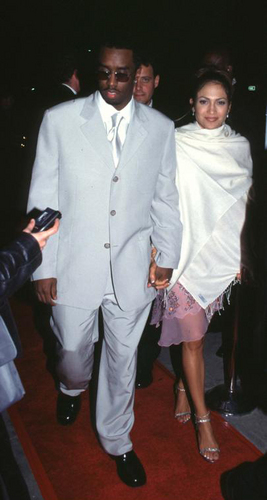 puff daddy & jennifer - Sony's post-Grammy party 2000