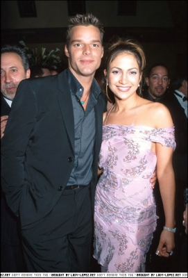 Sony's post-Grammy party 2000 - Ricky Martin & Jennifer Lopez