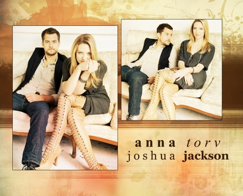 Anna Torv and Joshua Jackson wallpaper with a sign called torvson