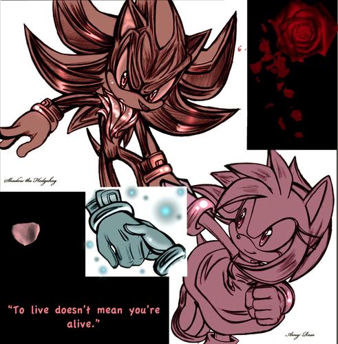 Sonic Shipping.... karatasi la kupamba ukuta containing anime entitled .:Shadamy:.