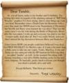 A letter of Denial