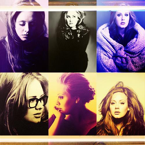 Adele Hintergrund titled Adele