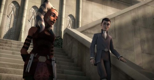étoile, étoile, star Wars: Clone Wars fond d'écran containing a business suit called Ahsoka and Senators son