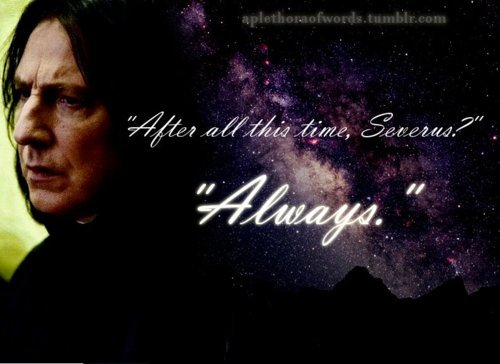 Severus Snape wallpaper probably containing a sign, a portrait, and anime titled Always