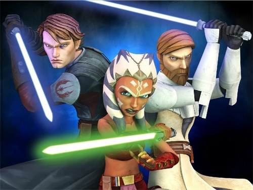 Anakin,Ahsoka,Obi-wan