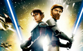 Anakin and Obi-Wan - clone-wars-anakin-skywalker wallpaper