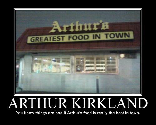 Arthur's food....