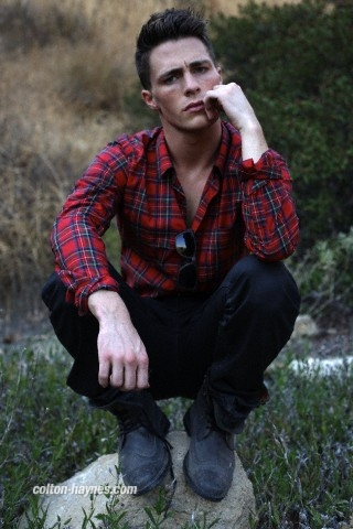 Colton Haynes wallpaper probably containing an outerwear called August Man photoshoot