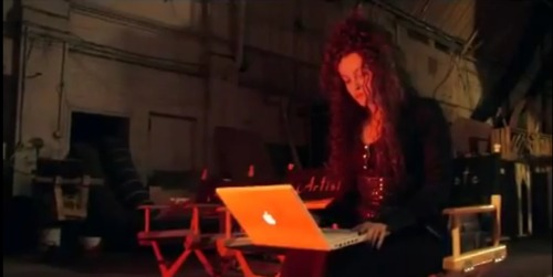 Bellatrix surfing the internet! XD