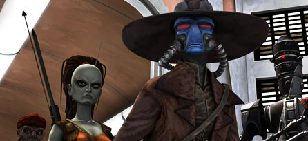 étoile, étoile, star Wars: Clone Wars fond d'écran called Bounty Hunters