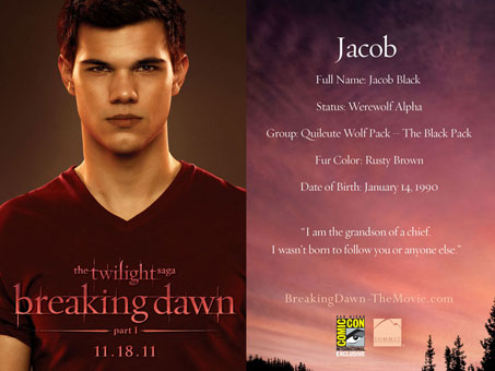 Breaking Dawn Comic - Con Cards