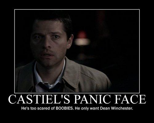Castiel is in a panic
