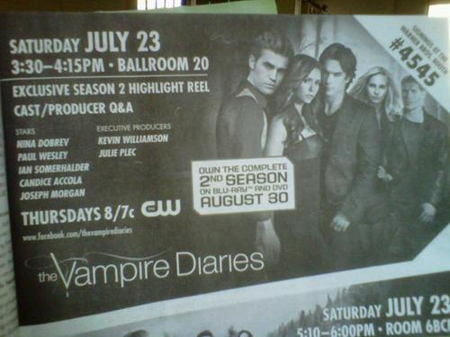 Comic Con Pic TVD Event Guide
