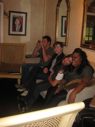 Cory & Chris hanging with the girls<3