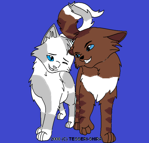 Crystalpaw and Fallenvoice
