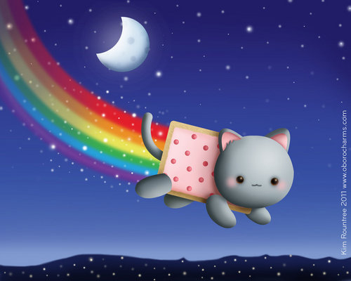 Nyan Cat Hintergrund called Cute Nyan Cat