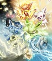 Cute! - emolga-minccino-pachirisu-oshawott-and-pikachu photo
