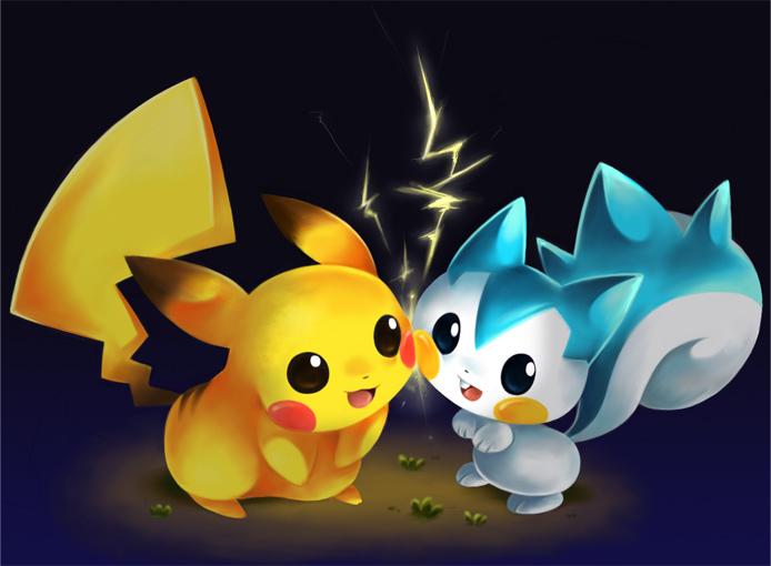 Emolga, Minccino, Pachirisu, Oshawott and Pikachu. images ...