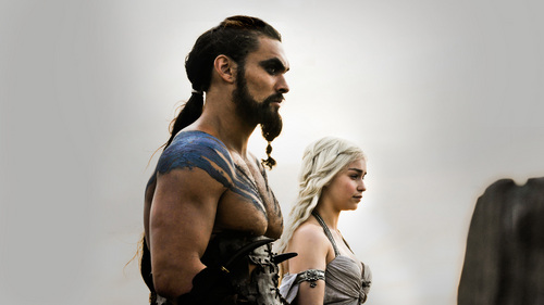 Daenerys Targaryen fond d'écran containing a hip boot and a lippizan entitled Daenerys & Drogo