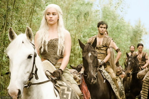 Daenerys Targaryen Hintergrund with a horse wrangler and a lippizan called Daenerys Targaryen