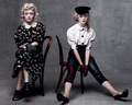 Dakota and Elle Fanning in the Vogue Annual Age Issue.