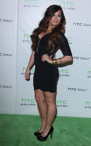 Demi Lovato at the HTC Social Status event (July 19).