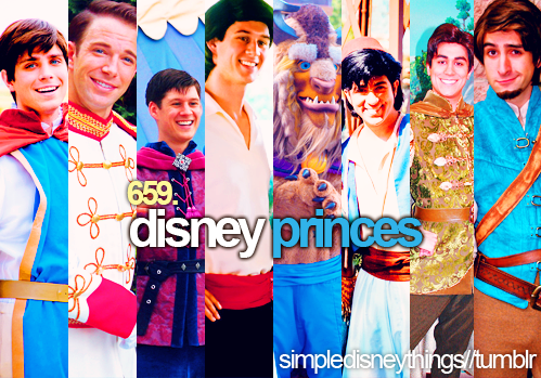 डिज़्नी Princes Characters