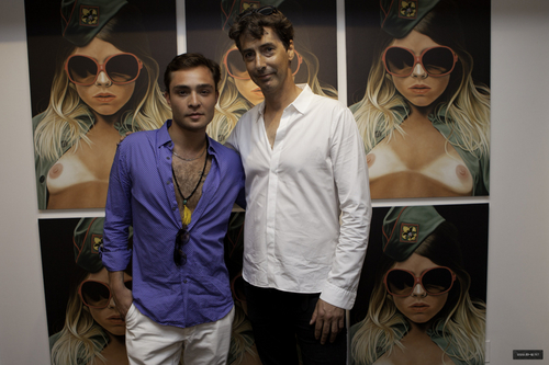 Ed Westwick at The opening of Richard Phillips exhibition