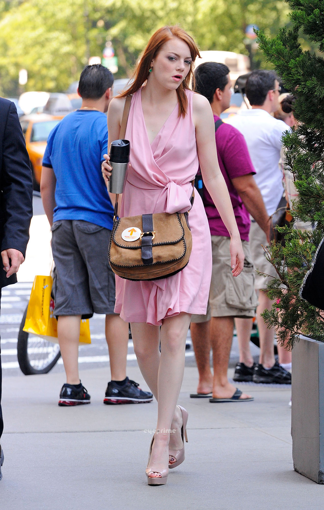 Emma Stone seen arriving at the Press Junket of her new Movie in NY, July 19
