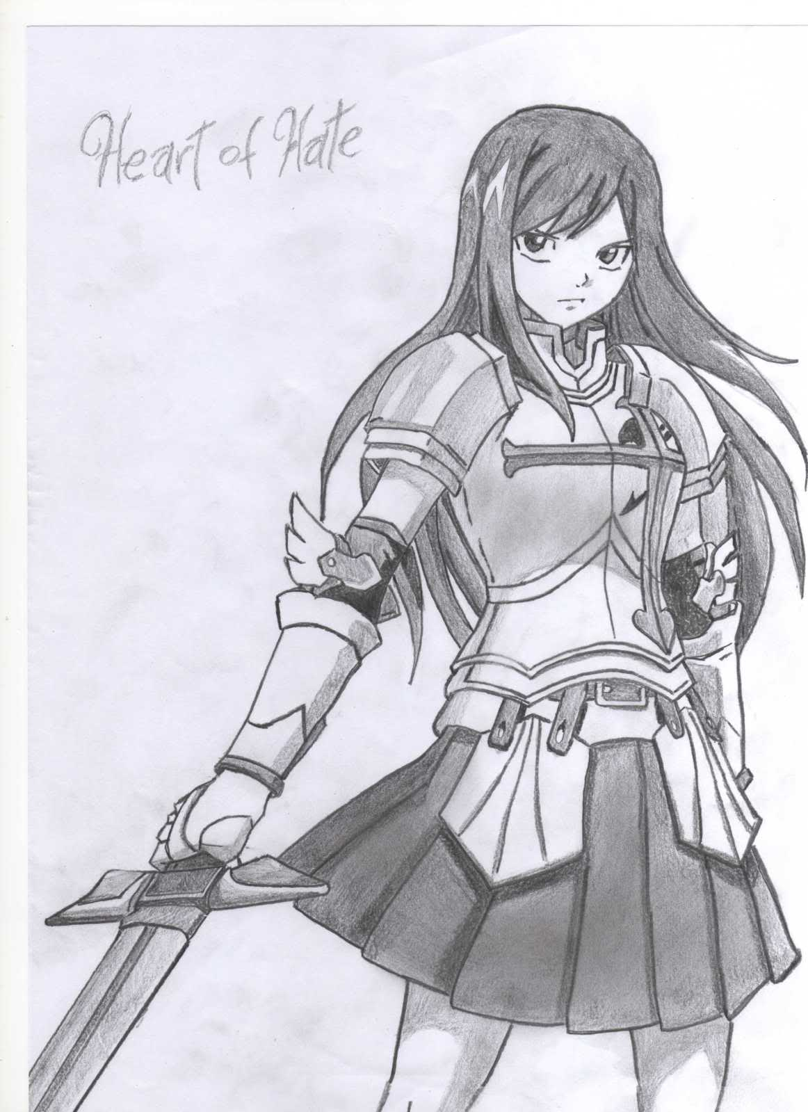 Fairy Tail Drawings Erza Erza Scarlet    - fairy-tail
