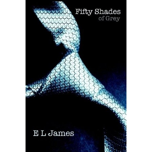 Fifty Shades Trilogy karatasi la kupamba ukuta titled Fifty Shades of Grey book cover
