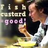 Fish+ Custerd= good
