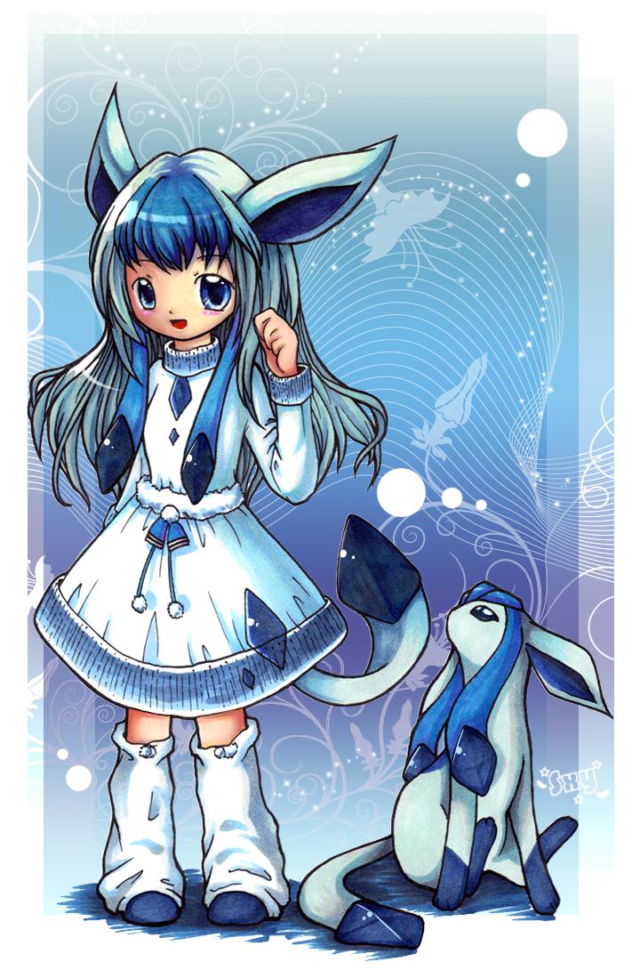La estrella que brilla en la oscuridad~Uchiha Akire~ Glaceon-Girl-pokemon-23838356-720-1090