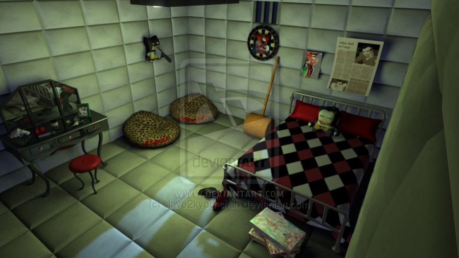 harley quinn themed room