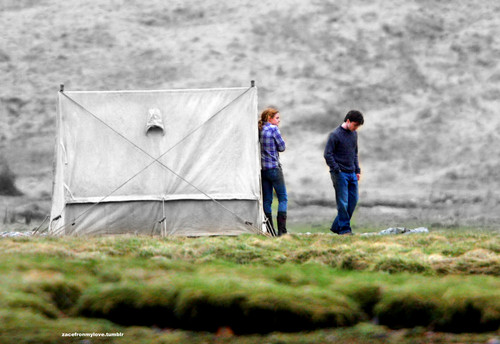Harry Potter and the Deathly Hallows Part 1!- Behind the Scenes- Harry&Hermione