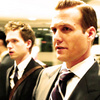 Suits photo possibly with a business suit and a judge advocate called Harvey and Mike