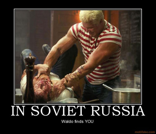 In Soviet Russia, Waldo Finds 你