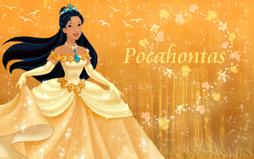 Princesses Disney fond d'écran entitled Indian Princess Pocahontas