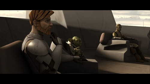 ster Wars: Clone Wars achtergrond probably containing a living room called Jedi council
