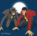 Jigen and Lupin - anime fan art