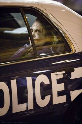 Joker in Police Car