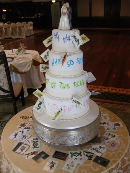 Joker inspired Wedding Cake