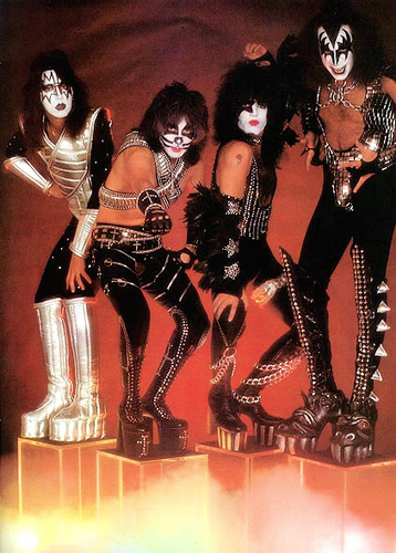 KISS wallpaper probably containing anime titled Kiss 1977 promo