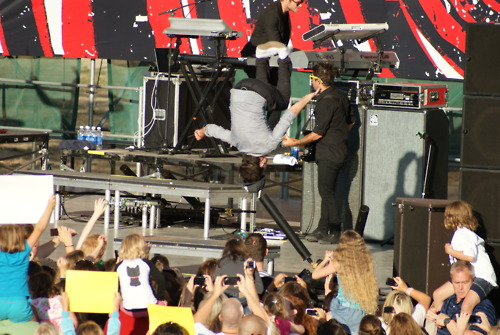 Logan backflip!