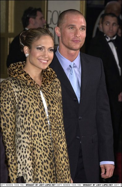 Matthew McConaughey&JLo-GOLDEN GLOBE AWARDS 2001
