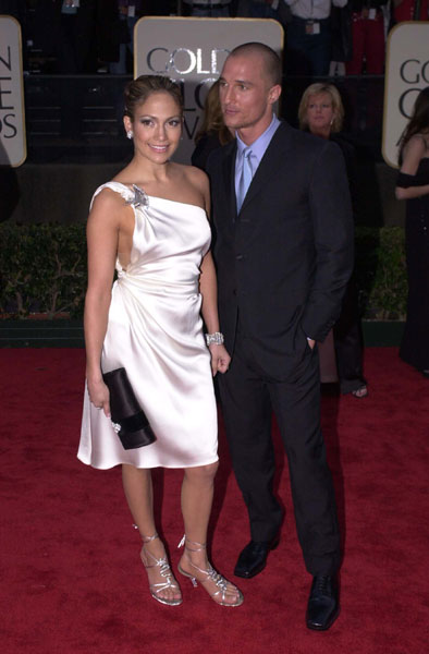Matthew McConaughey&JLo-GOLDEN GLOBE AWARDS 2001
