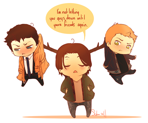 Moose, Dean, Cas