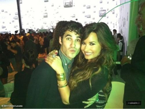 New Demi Lovato with Darren Criss foto at HTC Event