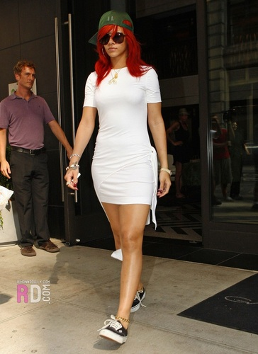 Rihanna - Leaving her hotel in New York City - July 19, 2011